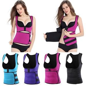 e7b75796b1 Romacci Woman Body Shapers Slim Vest Tummy Training Corset Underbust ...