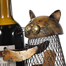Cat Wine Holder Cat Sculpture Home Decoration Art Collection Ornament Cork Storage