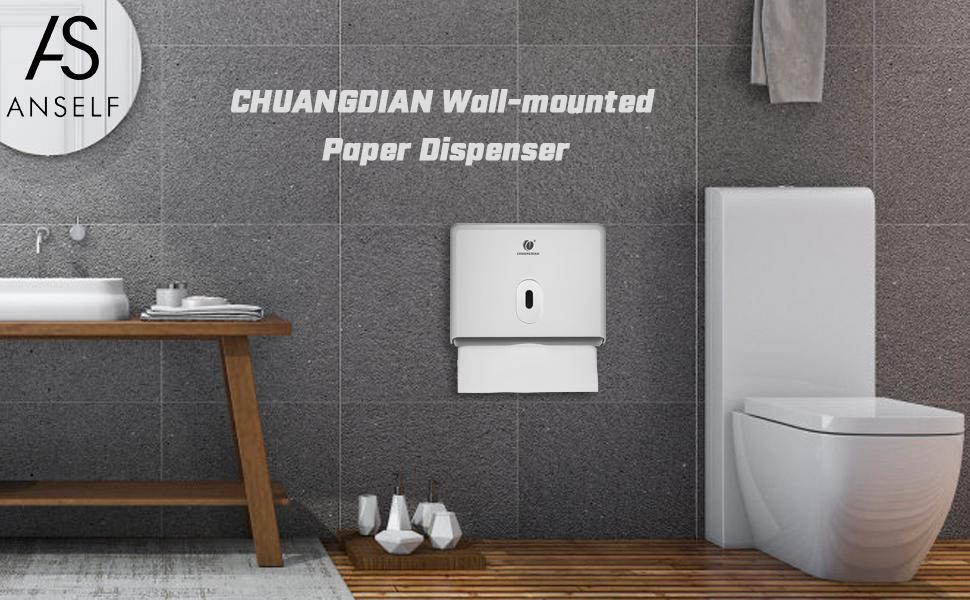 67589105cb1 Amazon.com  Anself CHUANGDIAN Wall-Mounted Bathroom Tissue Dispenser ...
