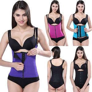9a10d500de Romacci Women Body Shaper Waist Trainer Zip Tummy Cincher Vest ...