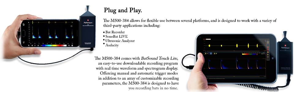 Amazon com : Pettersson M500-384   Bat Detector   USB Ultrasound