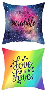 Inspirational Throw Pillow Covers