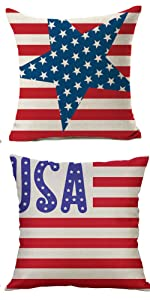 4th of July Throw Pillow Covers