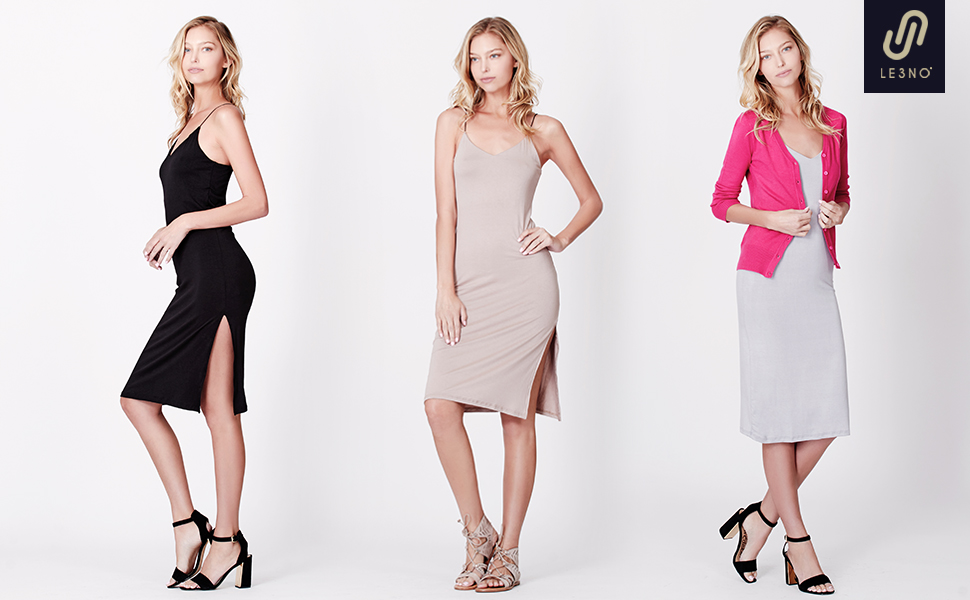0bb9a2b73bbf Details. Formal or casual wear; Stretchy, smooth jersey material; Elastic  straps; High side slit; Bodycon ...