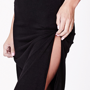 69ab90f4cdda Made of a super stretchy material, this dress accentuates your figure while  the side slit gives it a killer seductive vibe. This minimal dress easily  layers ...