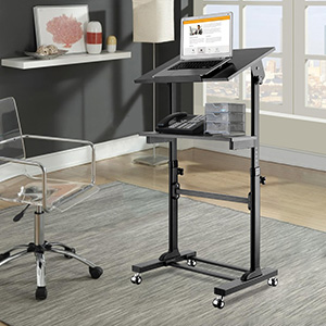 Amazon Com Proht Mobile Height Adjustable Sit Stand Desk