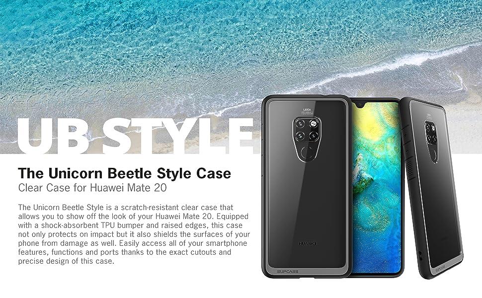 para Huawei Mate 20 Lite 2018 Azul SupCase Funda Huawei Mate 20 Lite Transparente Case Unicorn Beelte Style