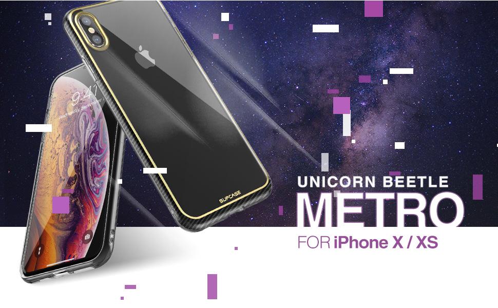 SUPCASE Unicorn Beetle Metro Slim Clear Case for Apple iPhone X iPhone Xs