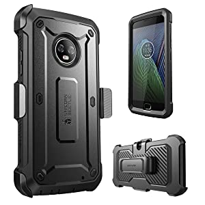 SUPCASE [UB PRO Series] Case for Moto G6 Plus, Full-Body Rugged Holster Case with Built-in Screen Protector for Moto G Plus 6th Generation, Not Fit ...