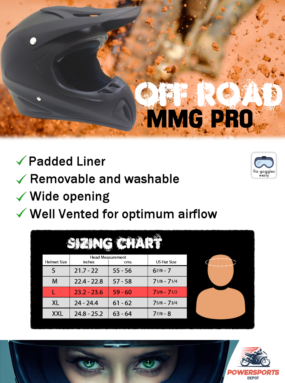 Amazon.com: MMG Motorcycle Off Road Helmet DOT