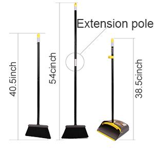 Soft Angle Broom bristles