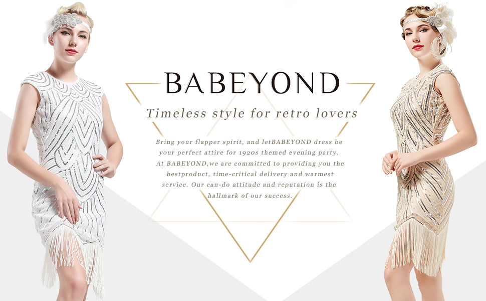 abede261b3c BABEYOND Women s Flapper Dresses 1920s Beaded Fringed Great Gatsby ...