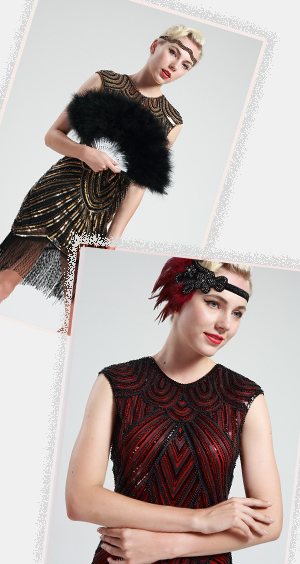 Amazon.com: BABEYOND Women's Flapper Dresses 1920s Beaded