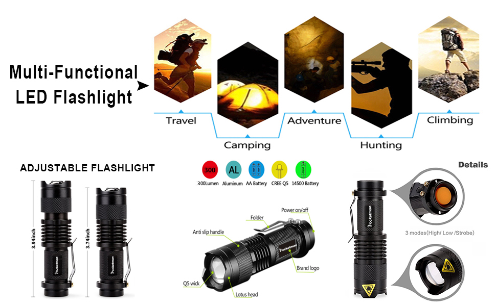 6 pack flashlight
