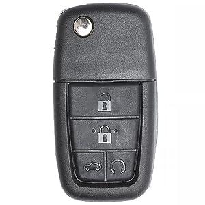 Keyecu Replacement Shell Folding Remote Key Case Fob 5 Button for Pontiac G8 2008-2009