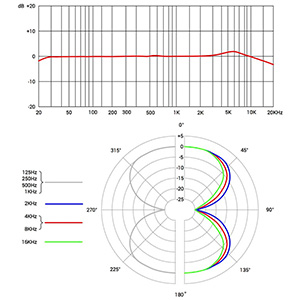 X1 R Frequency Response and Polar Pattern