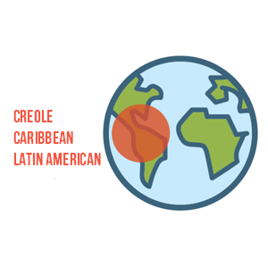 creole, Caribbean, latin american, globe, map