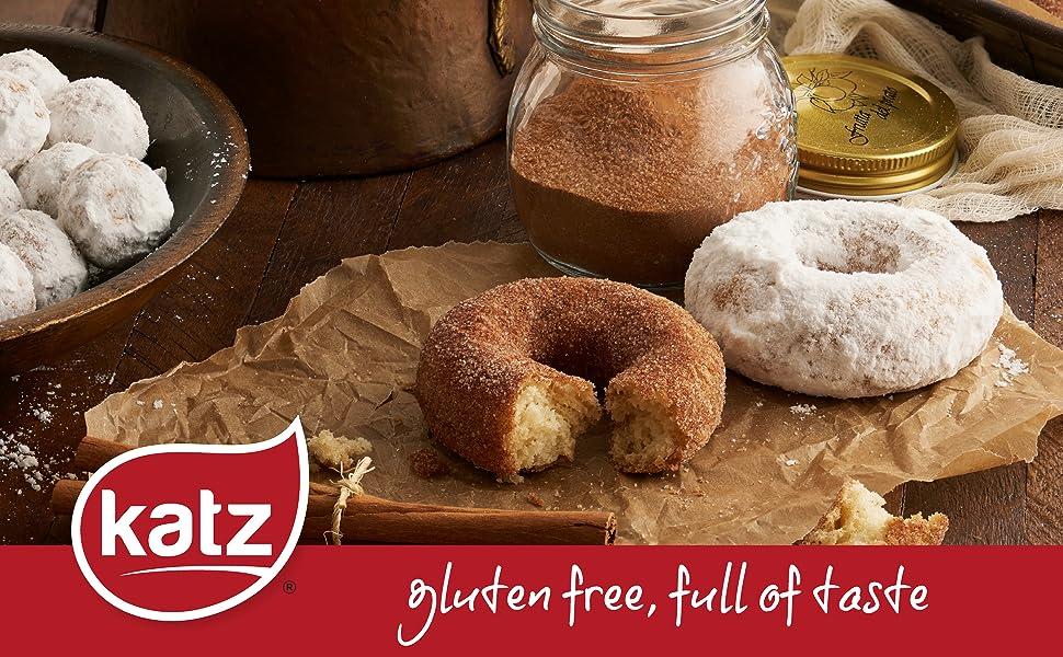 Katz Gluten Free Powdered Donuts Dairy, Nut, Soy, and Gluten Free Kosher (1  Pack of 6