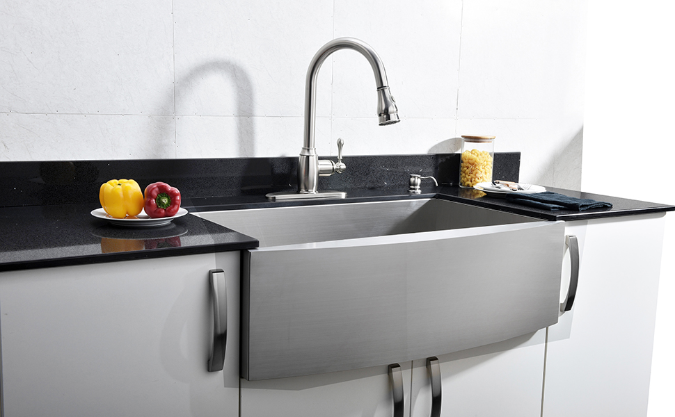 VCCUCINE KITCHEN SINK - - Amazon.com on corner farm sinks for kitchens, two sinks for kitchens, wall mount farm sinks for kitchens, cast iron farm sinks for kitchens, apron sinks for kitchens, lowe's farm sinks for kitchens, white farm sinks for kitchens, composite farm sinks for kitchens, kohler farm sinks for kitchens, double farm sinks for kitchens, bathroom farm sinks for kitchens, antique farm sinks for kitchens,