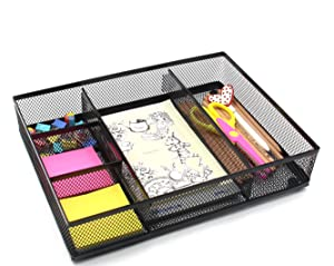 Amazon Com Easypag Office Mesh Desk Organizer Compartment With