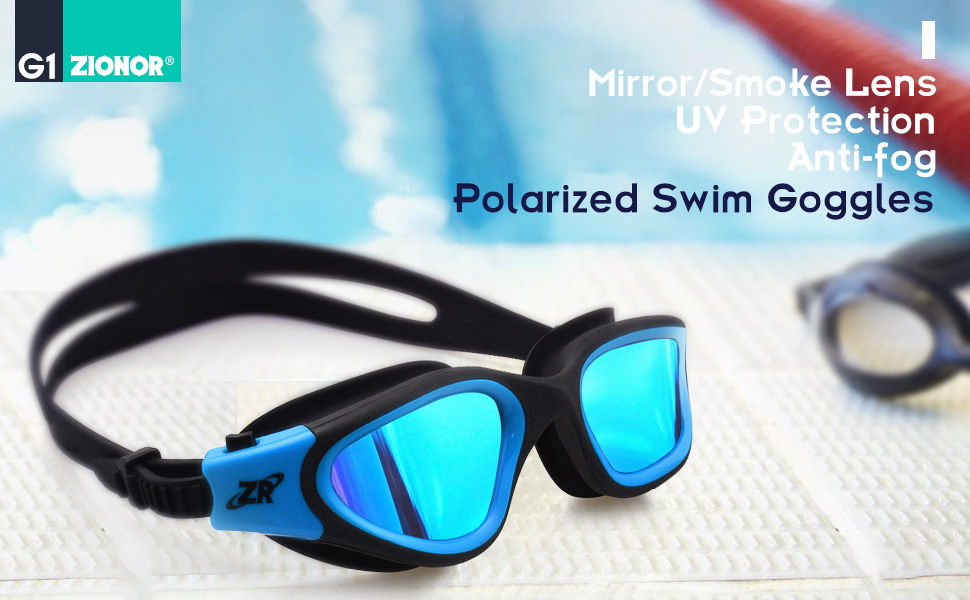 Amazon Com Swimming Goggles Zionor G1 Polarized Swim