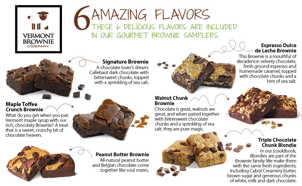 Vermont Brownie Companys Gourmet Brownie Sampler