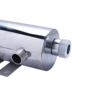 UV reactor stainless steel chamber