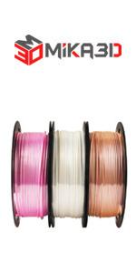silk pink rose gold white pla filament bundle