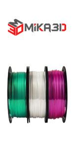 green white purple silk pla 3d printer material