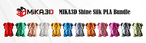 mika3d shine silk pla bundle 3d printer filament 1.75mm pla