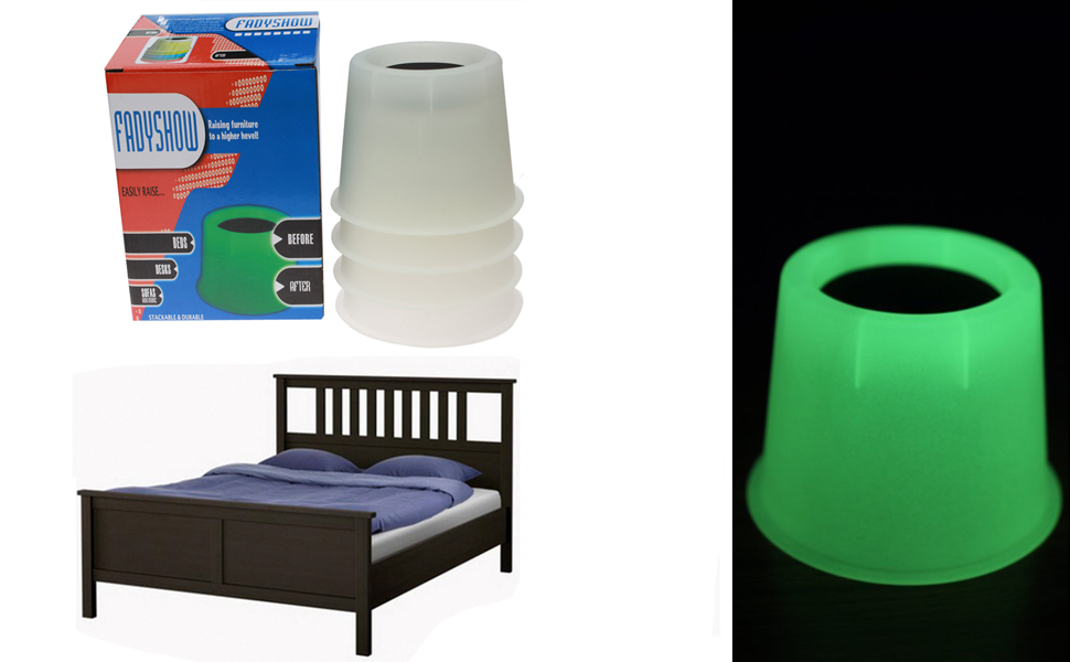 Amazon.com: Furniture Bed Risers Chair Lifts With Luminous in The ...