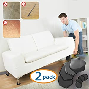Charmant Furniture Pads For Carpet Foam Grip Non Slip Floor Protectors For Furniture  Legs