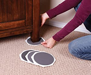 Hardwood Floor Furniture Protectors >> Furniture Moving Sliders and Feet Pads 16-Pc For Moving