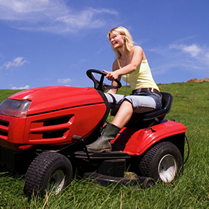 garden work mow mowing grass acre acres weed the lawn machine noise engine block reduce fun music