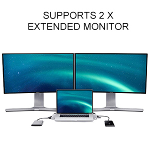 support 2 extended monitor