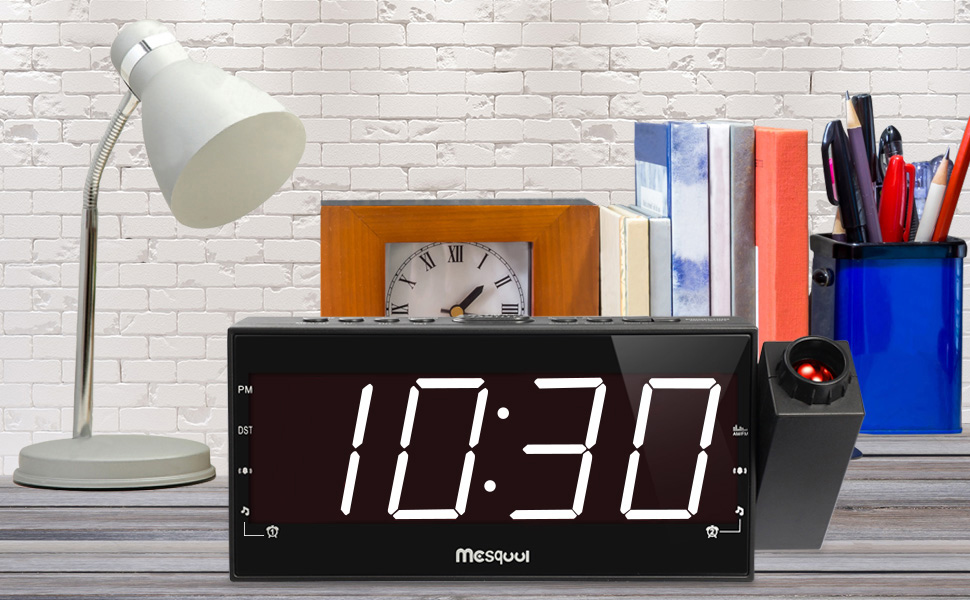 Amazon upgraded versionmesqool amfm digital dimmable mesqool introduces new dimension of the alarm clocks with the introduction of the sleekest and coolest amfm alarm radio clock with adjustable led light mozeypictures Gallery