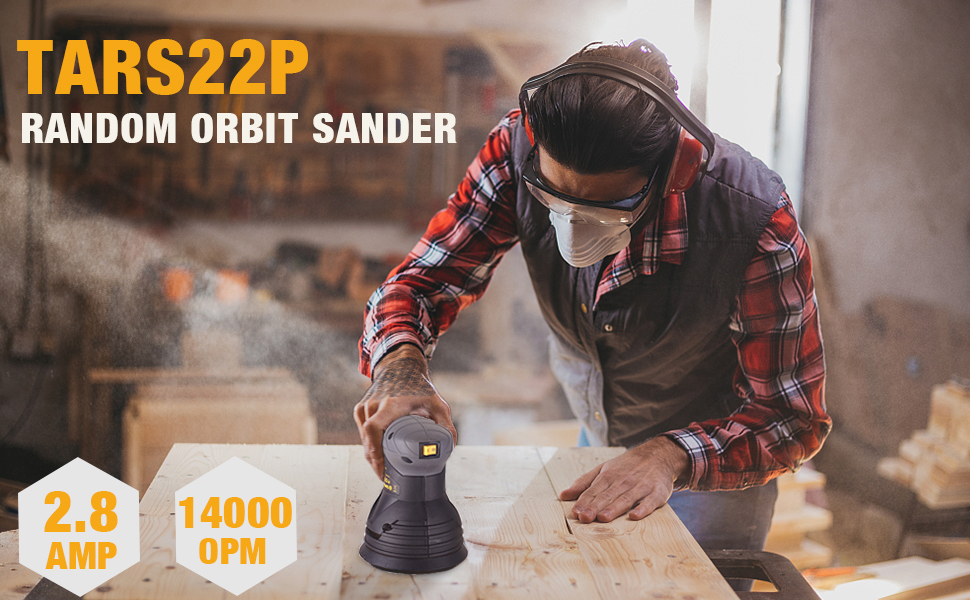Amazon.com: Random Orbit Sander TECCPO, 2,8A/14,000 OPM 5 ...