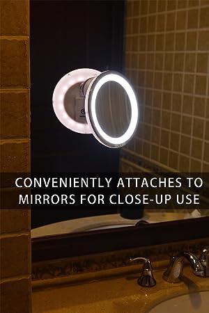 Amazon Com Sanheshun 7x Magnifying Lighted Travel Makeup