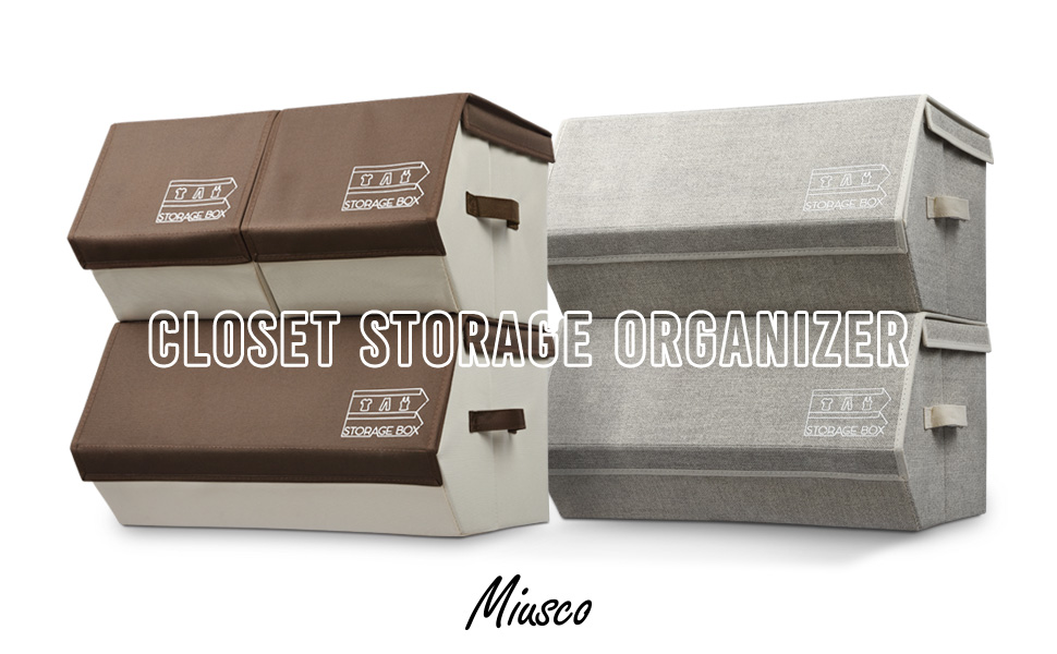 Miusco Collapsible Storage Bin With Magnetized Lid Is The Best Solution For  Organiztion. It Works Great In Closet, Home, Office And More.