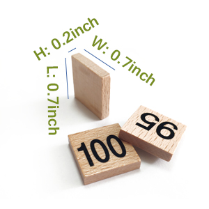 Package Details of Amberetech 1-100 Wooden Board