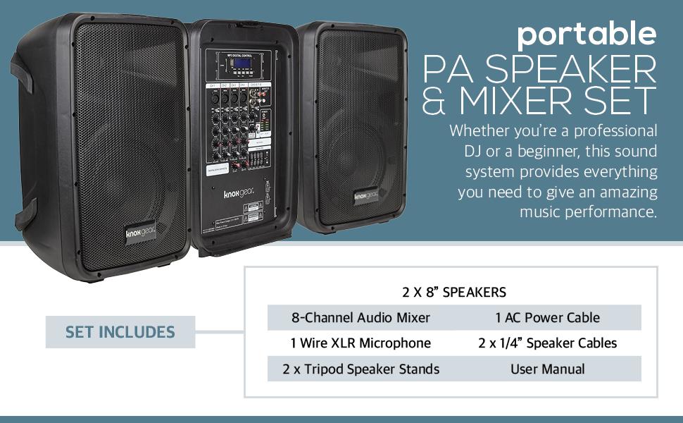 Amazon.com: Knox Dual Speaker and Mixer Kit – Portable 8