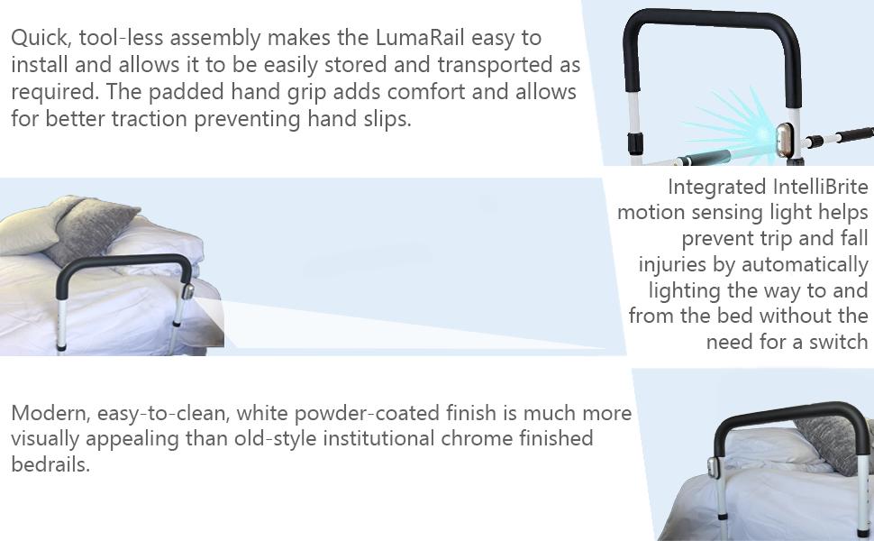 Amazon.com: LumaRail, barandal de asistencia para cama ...