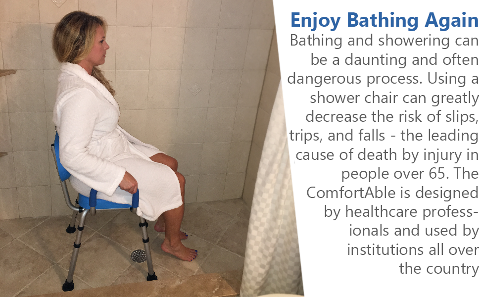 Amazon.com: Shower Chair, Bath Chair, PADDED with Armrests ...