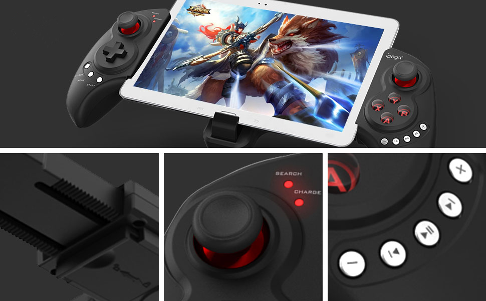 ipega 9023 Rechargeable Bluetooth Wireless Android Gamepad Controller for  5-10 inch Tablets and Phones, for Android TV, TV Box and Win pc
