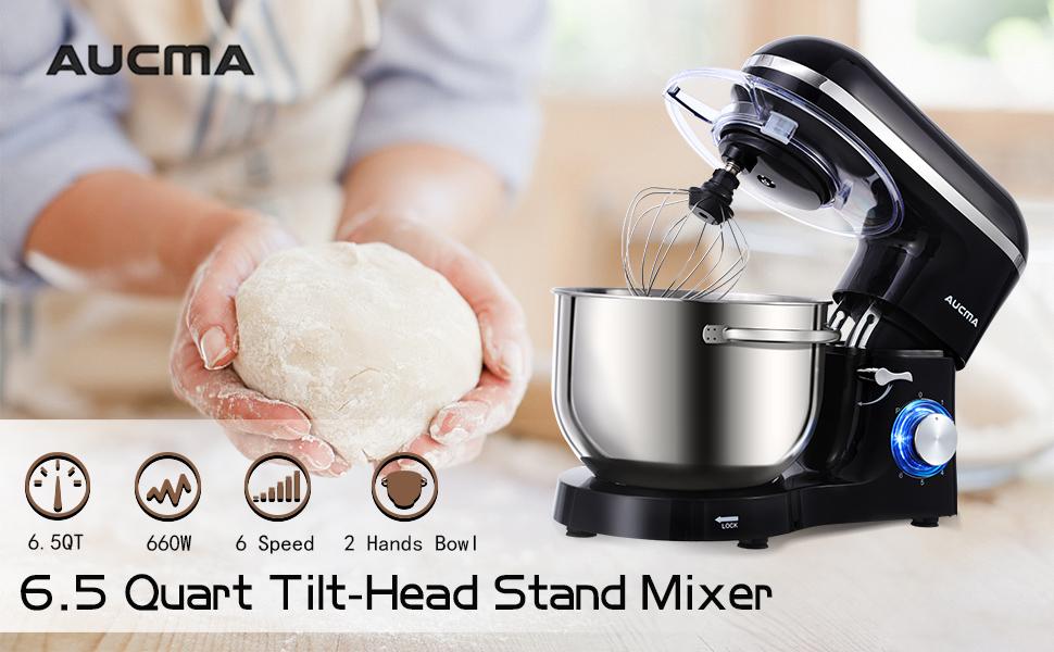 Tilt-Head Stand mixer 6.5QT