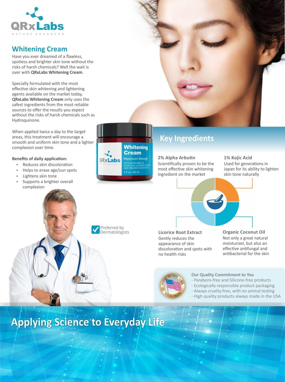 QRxLabs Whitening Cream Brochure