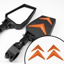 oranger side mirror for rzr