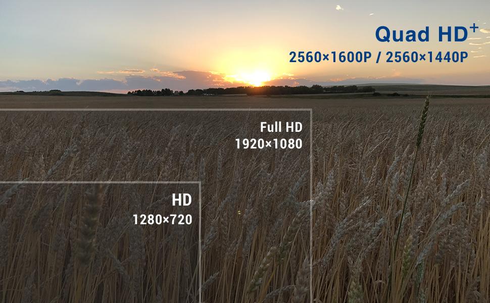 quad hd 2560x1600p / 2560x1440p full hd 1920x1080p hd 128x720 pixels + Sony