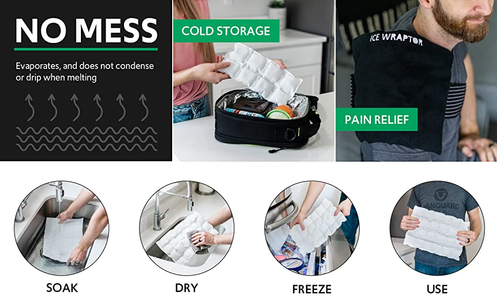 Long Heat Wave pack on shoulders, text: muscle soreness, pain relief, arthritis, reusable, portable