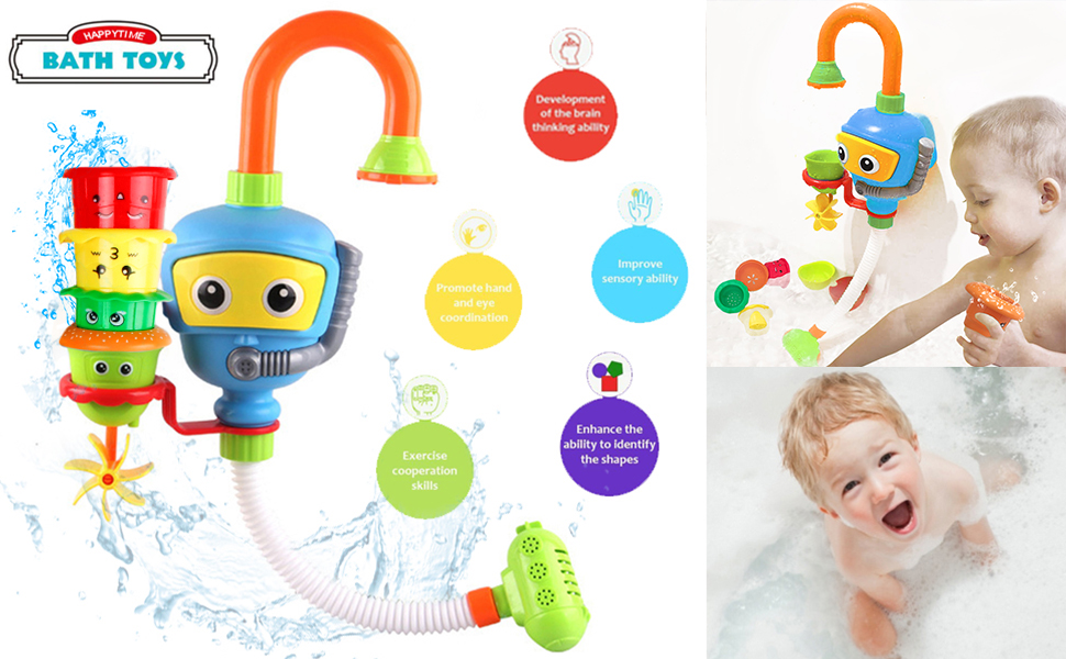 Amazon.com: Baby Bathtub Toy Diver Game - Happytime Water Toys 3 ...